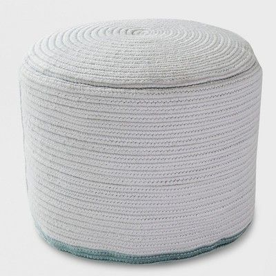 Outdoor Pouf Gray Rope Smoke Green Project 62 Outdoor Pouf