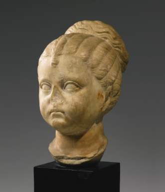 A Roman Marble Portrait Head Of A Girl Flavian Or Trajanic Circa A D 90 110 Roman Sculpture Roman Art Ancient Art