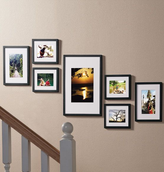 Staircase Picture Frame Set Set Of 7 Zoom Staircase Pictures Picture Frame Sets Photo Wall Gallery