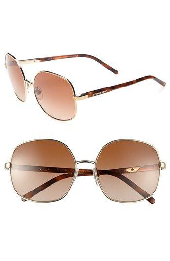 Burberry 55mm Wire Rim Sunglasses