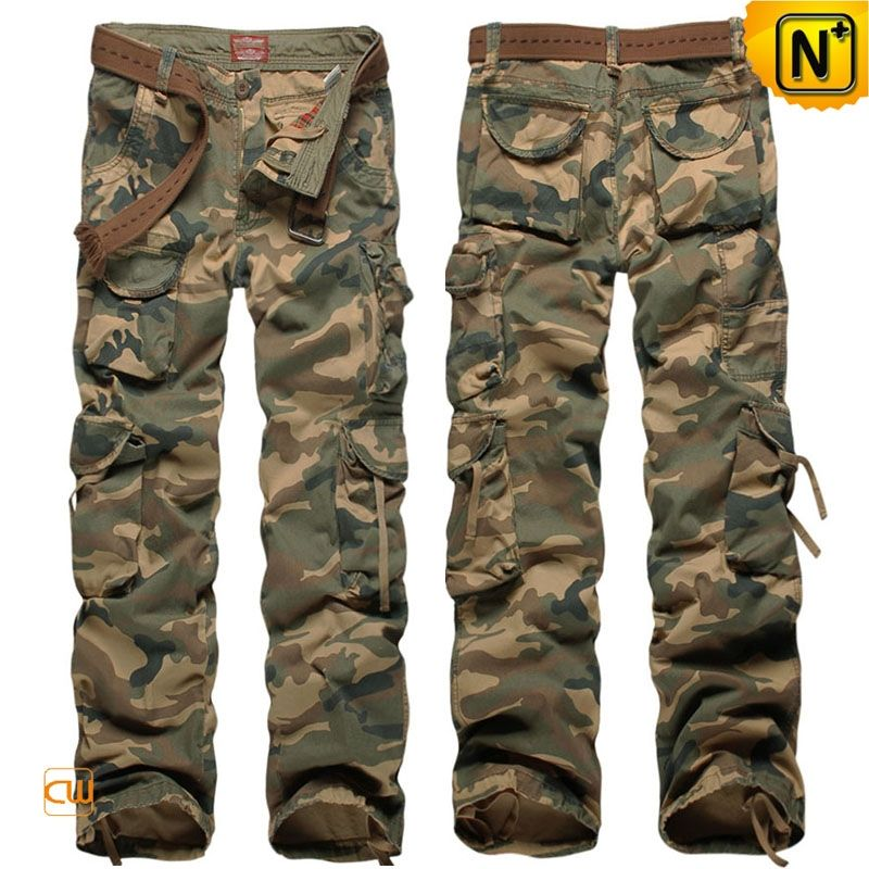 Mens Cargo Camo Pants 100% Cotton CW140326 8 pocket design all ...