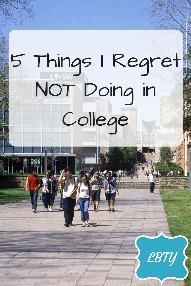 5 Things I Regret NOT Doing in College #College #Collegetips #CollegeRegrets