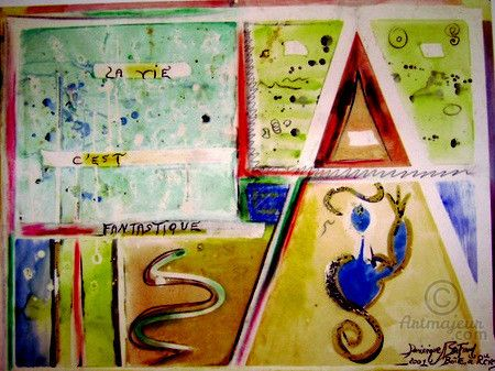 vive-la-viejpeg (Peinture), 70x50 cm par Dominique BERTRAND GOUACHE - Poser Papier A Peindre