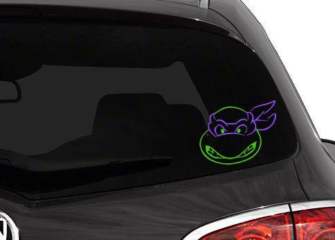 Teenage mutant ninja turtle vinyl car decal donatello raphael leonardo michelangelo tmnt