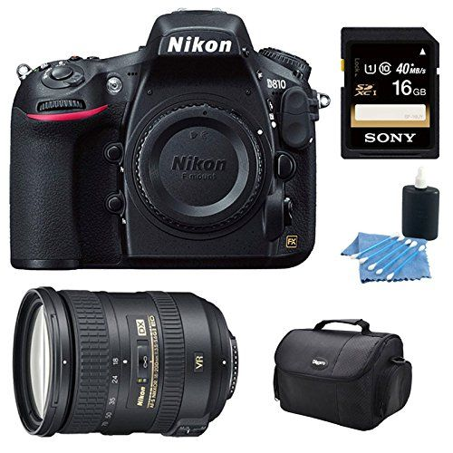 Nikon D810 36.3MP 1080p HD DSLR Camera and AF-S DX NIKKOR 18-200mm Lens Kit includes: D810 36.3MP 1080p HD DSLR Camera, Nikon AF-S DX NIKKOR 18-200mm f/3.5-5.6G ED VR II Lens, Sony 16GB SDXC Class 10 UHS-1 R40 Memory Card, Carry Case, & Lens Cleaning Kit Nikon http://www.amazon.com/dp/B00LCDWA6G/ref=cm_sw_r_pi_dp_Vs84ub0AHYEC7