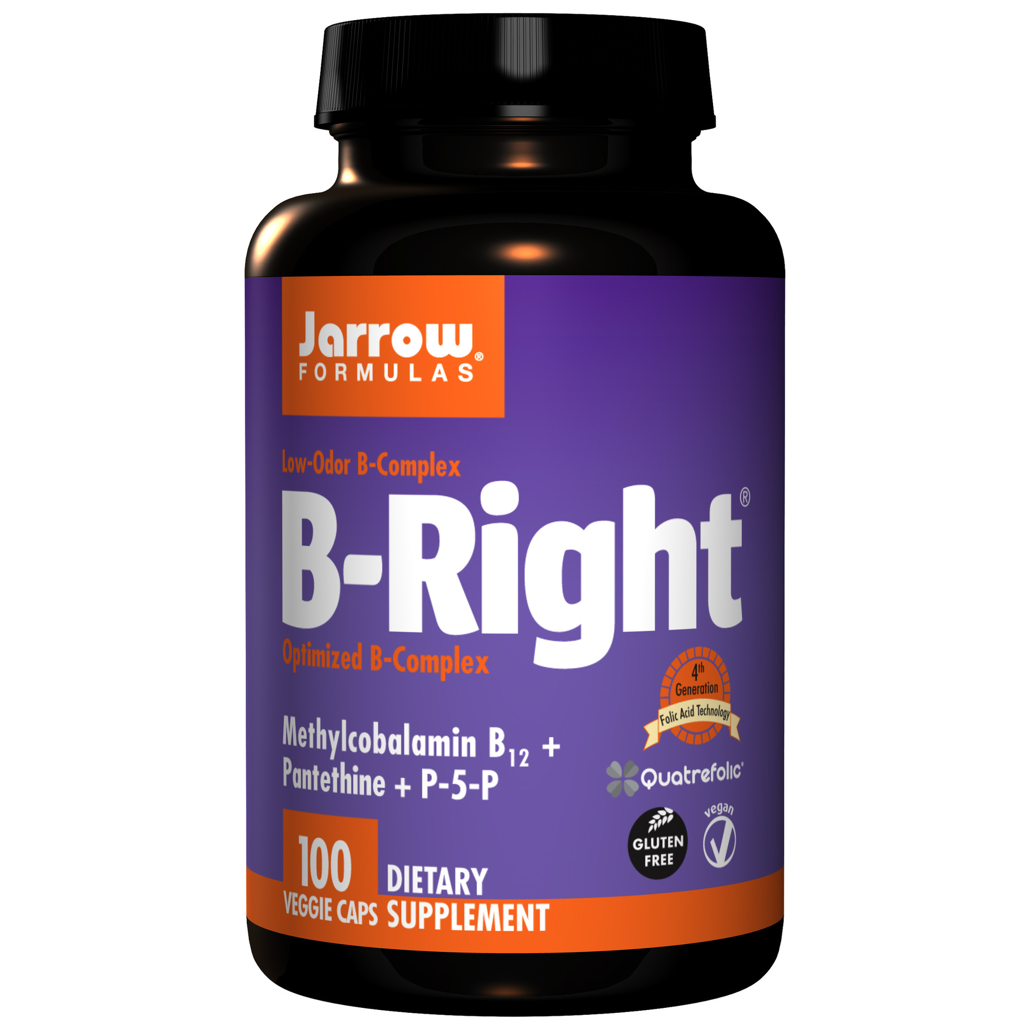 WHAT DOES B-RIGHT DO? B-Right is a carefully-balanced, low-odor vitamin B-Complex formula. Methyl folate ((6S)-5-methyltetrahydrofolic acid or (6S)-5-MTHF) is the most biologically active form of foli
