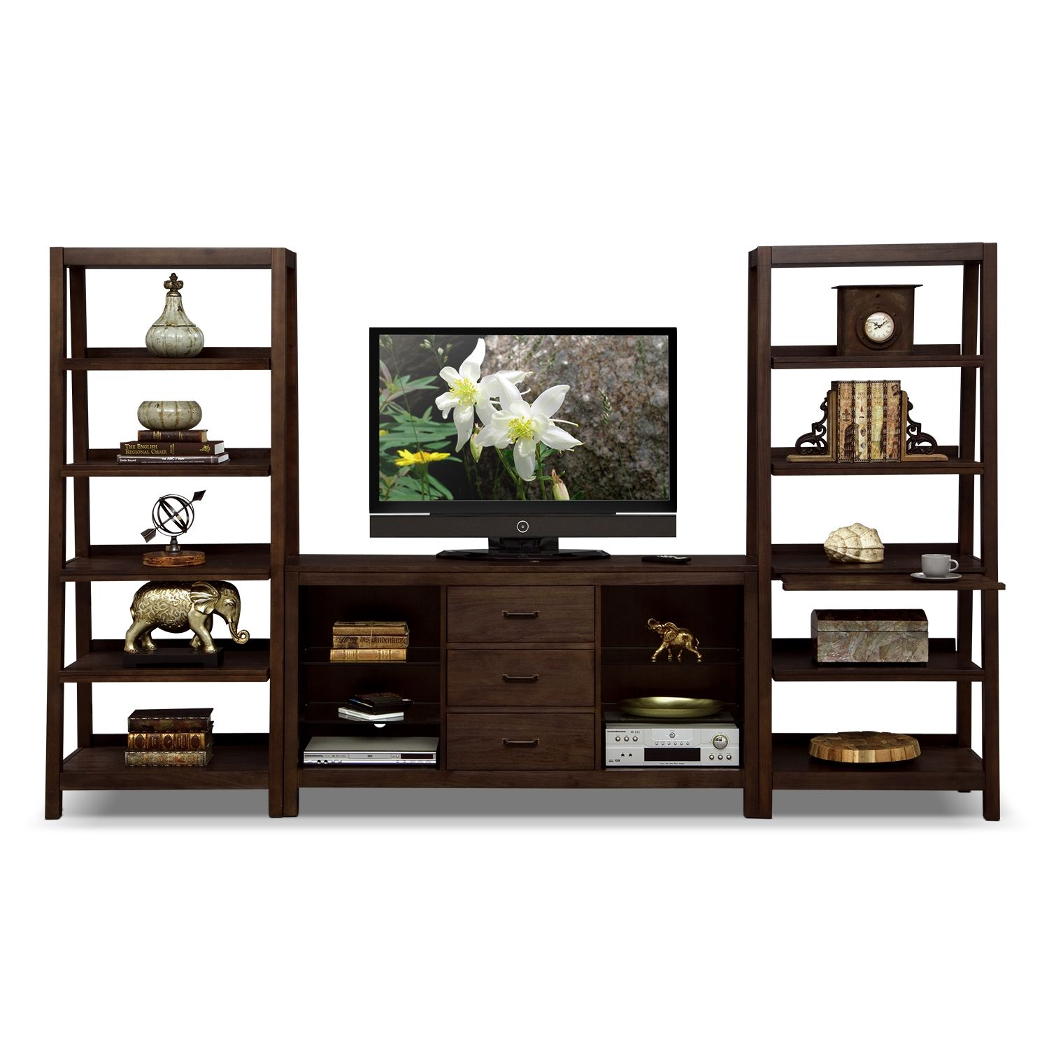 Entertainment Furniture - Camryn 3 Pc. Entertainment Wall Unit ...