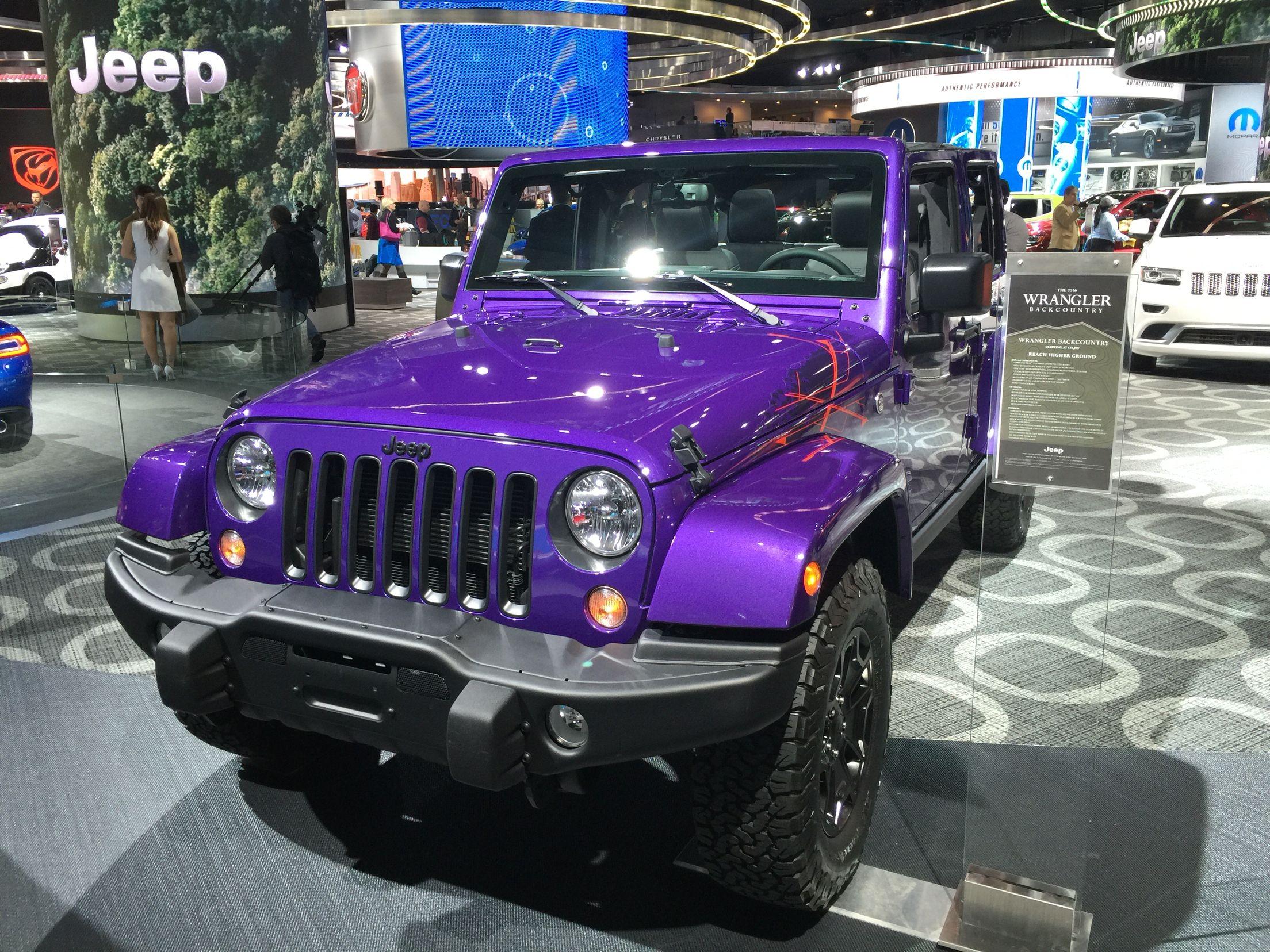 Extreme purple jeep wrangler 2016