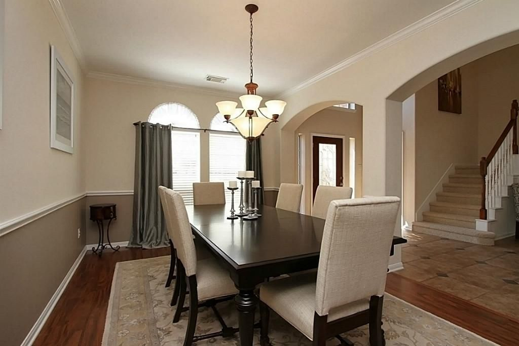 Enchanting Two Tone Dining Room Pictures House Designs