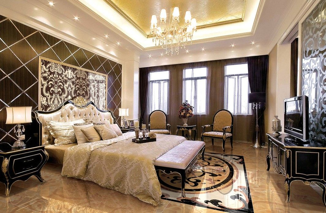 luxurious and splendid celtic bedroomtwo bedroom flat in dubai. European style luxury bedroom with yellow ceiling Impressive Bedroom Ceiling Designs That Will Leave You Without