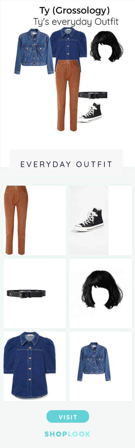 Ty (Grossology) created on ShopLook.io featuring re/done, converse, lovestrength, , see by chloe, mango perfect for Everyday. #seebychloe