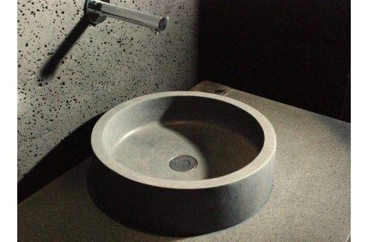 Vasque à poser en pierre RONDO basalte véritable dia 40 - Living\u0027ROC
