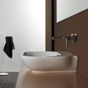 newform washbasin W: 80 D: 50 cm white without tap hole