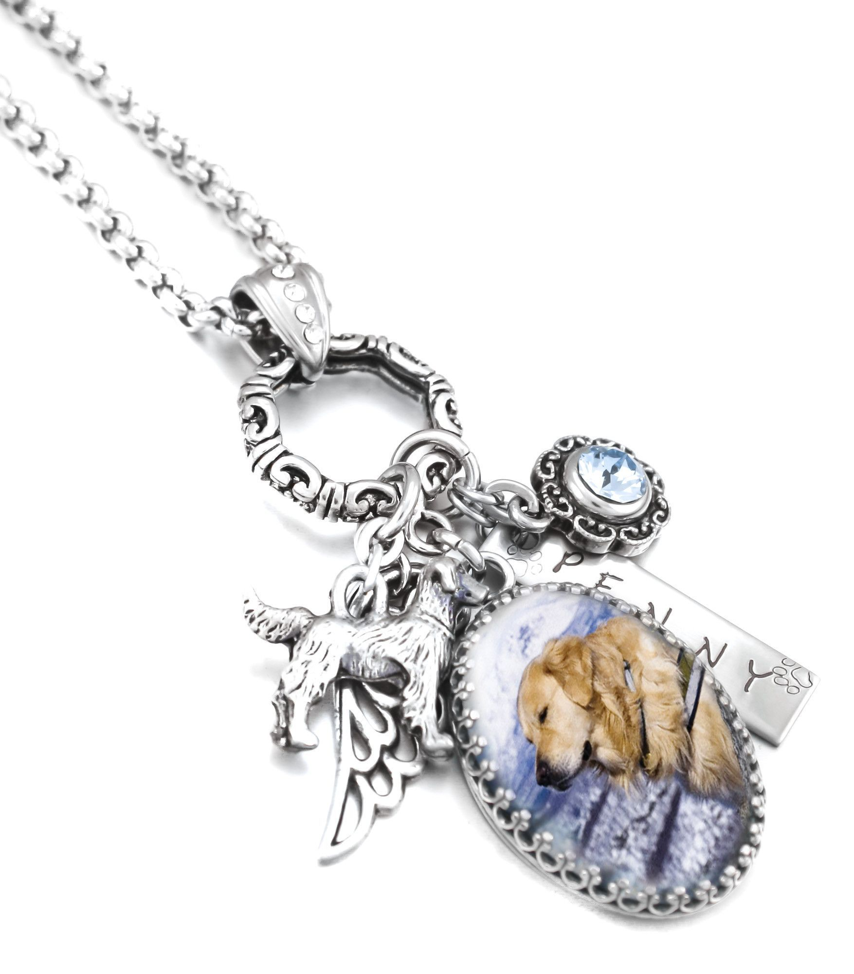 photo personalized in products with memorial jewelry necklace dad engraved handwriting