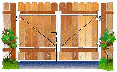 Wood Driveway Gate Plans How To Build Diy Woodworking Blueprints