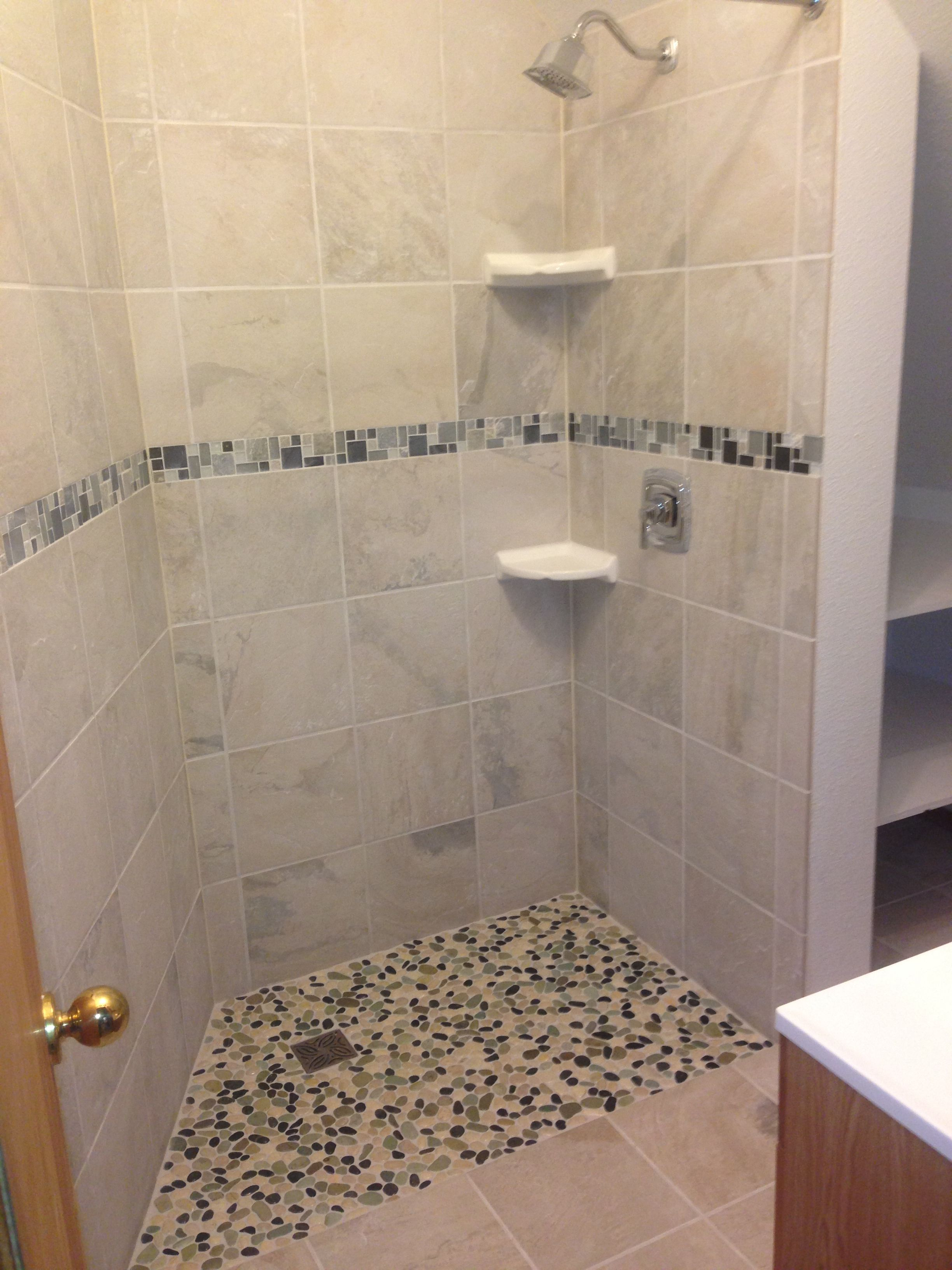 Floor Tile Trim On Shower Walls Google Search Shower Tile