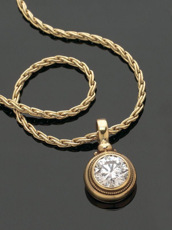 Custom diamond pendant by Marc Williams Goldsmith | One-Of-A