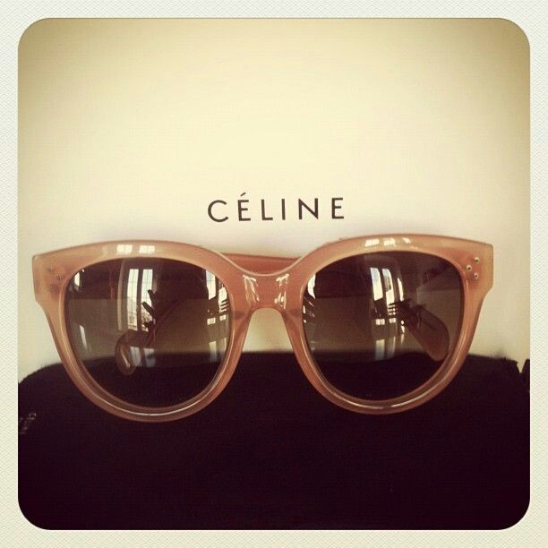 8c0acf56542  sunglasses by Celine classic Audrey in Nude mushroom got to love this  color and frame