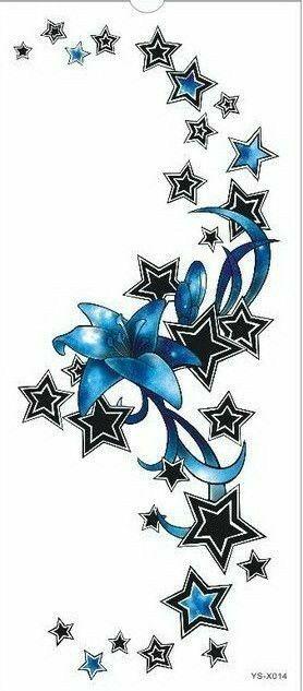 Pin By Betsy Mitchell On Tattoo Ideas Flower Skull Tattoo Stickers Star Tattoos