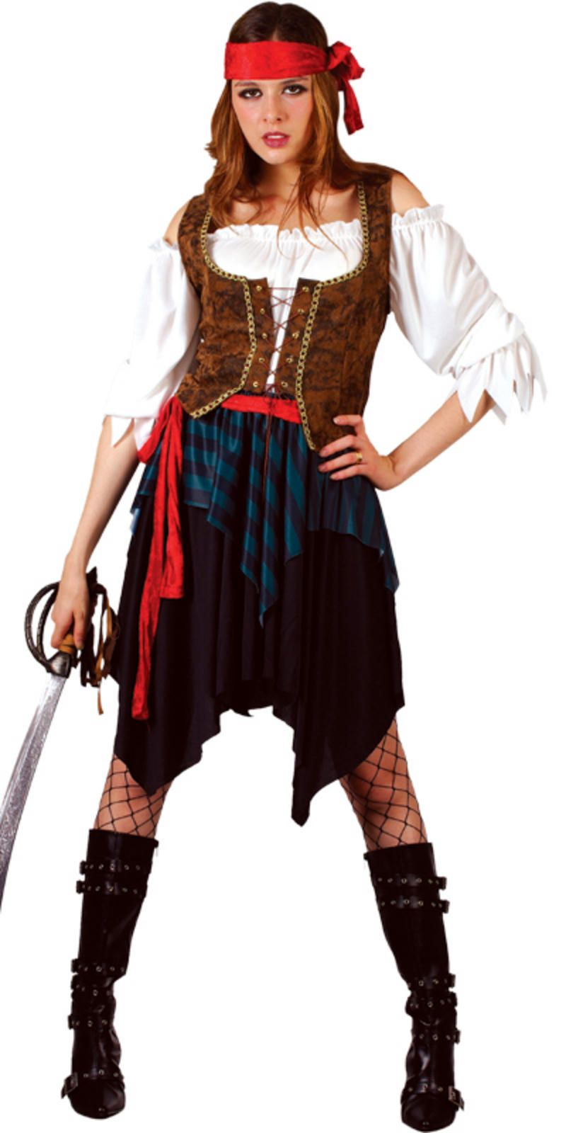 Buy Caribbean Pirate Fancy Dress Costume Ladies (Pirates) - Largest online fancy dress range in the UK - Price Guarantee u0026 FREE Delivery  sc 1 st  Pinterest & Female Pirate | Happy Halloween Hauntings | Pinterest | Caribbean ...