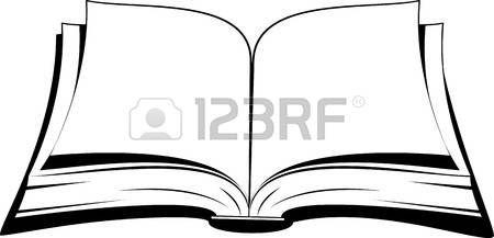 Livre Ouvert Livre Ouvert Sur Un Fond Blanc Vector