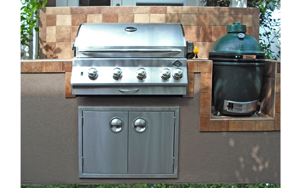Outdoor Kitchens With Egg Add A Big Green Egg To Your Outdoor Kitchen Outdoor Kitchens