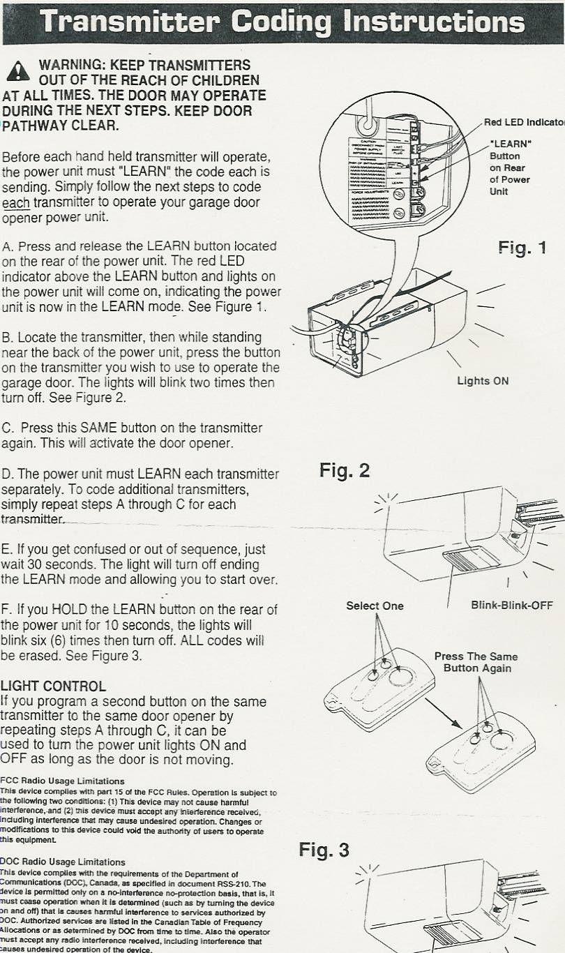 Stanley Garage Door Opener Remote Troubleshooting Httpvoteno123