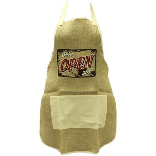 Soft Jute Apron - Open