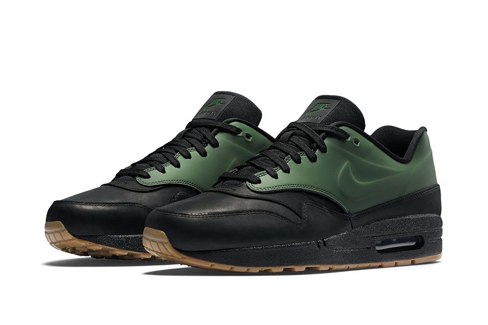 nike air max 1 vintage green black camo spray