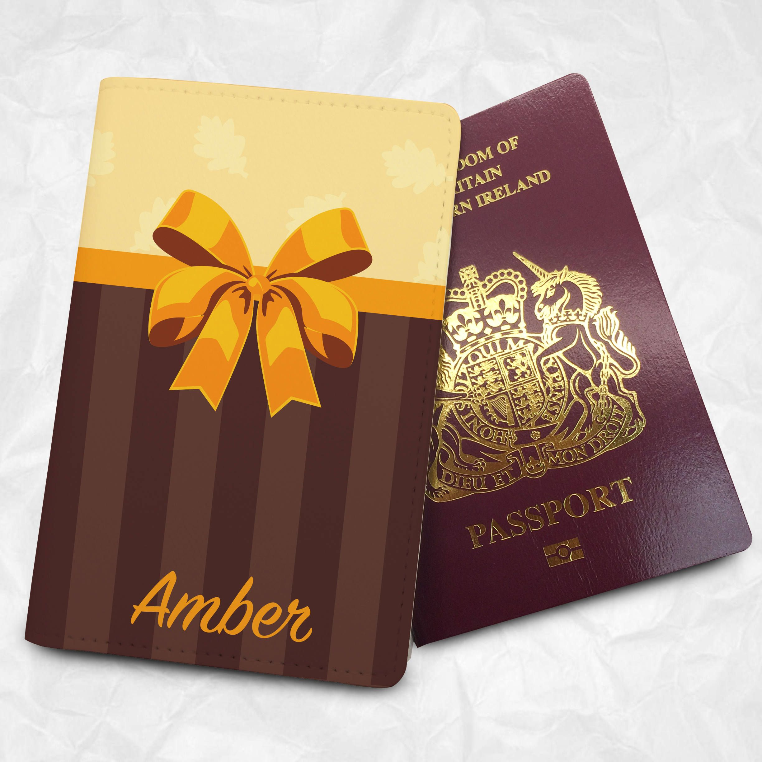 Thanksgiving Passport Cover With Free Monogram Name Printing And Customisation BEST Gift Companion Tag Available
