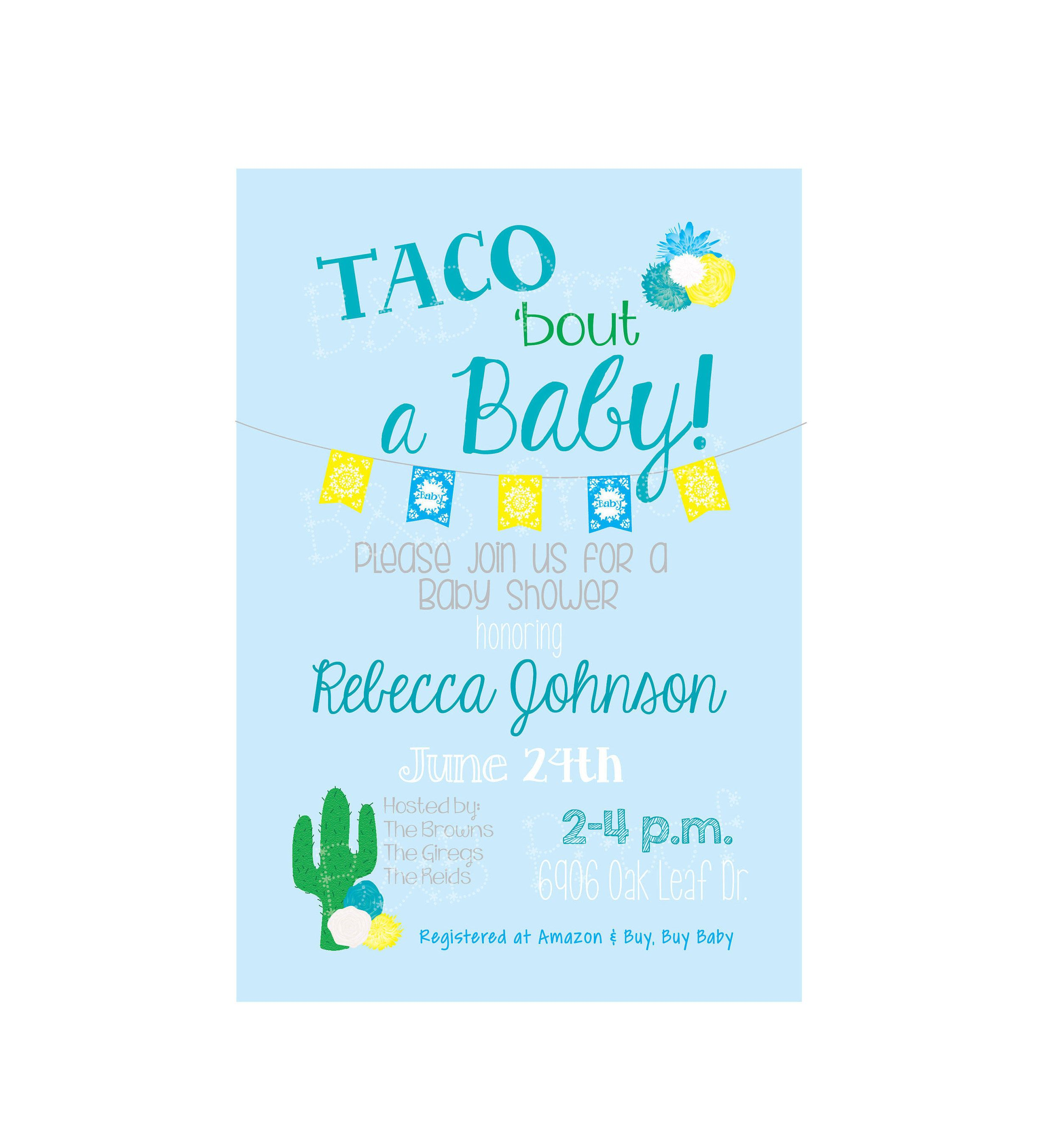 Taco Bout A Baby, Baby Taco Shower, Baby Shower, Baby