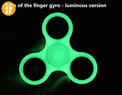 Fidget Hand Spinner Spielzeug Stress Relief Reducer High Speed Metall Lager Rad EDC Triangle Fitness Reducer Perfekt für Angst Crowd (Packung mit 3) , luminous - Fidget spinner (*Partner-Link)