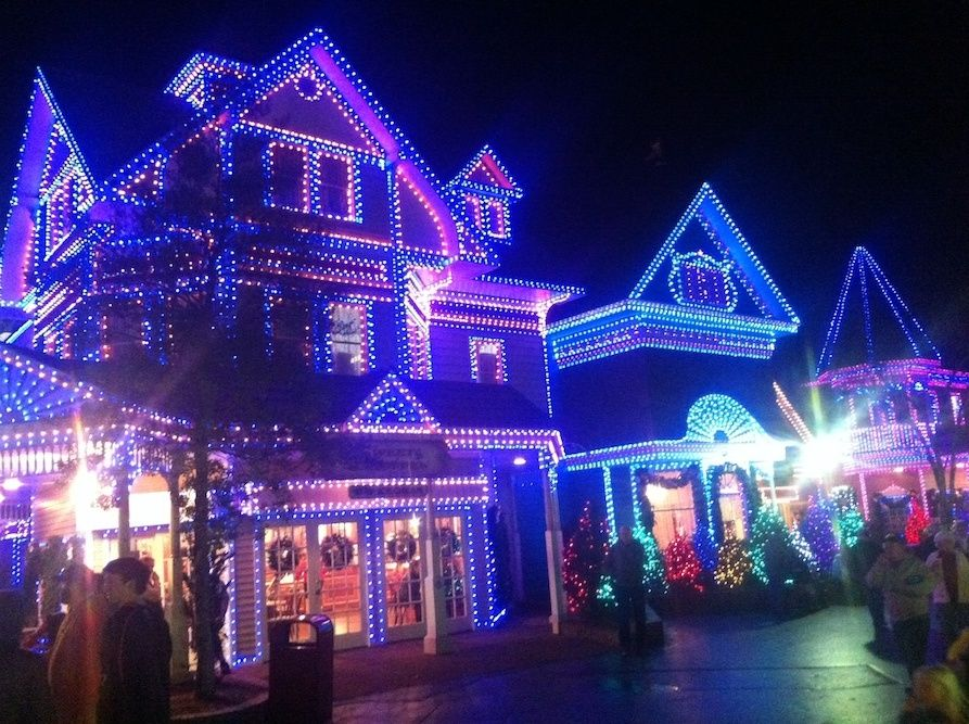 Beautiful Holiday Lights At Dollywood During The Smoky Mountain Christmas Festival Smoky Mountain Christmas Dollywood Christmas Dollywood