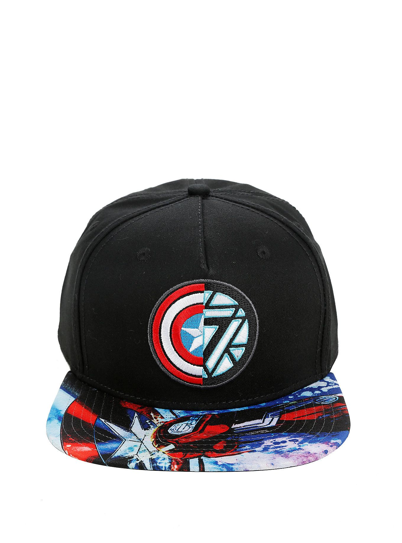 87844f3e37c3d Marvel Captain America  Civil War Captain America Vs Iron Man Logo Snapback  Hat