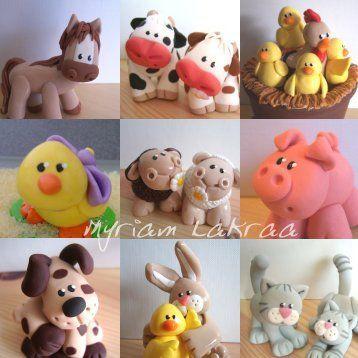 animaux - pâte polymère fimo (polymer clay animals) - myriam