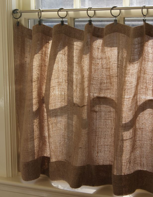 The Prairie Homestead How To Make Burlap Cafe Curtains