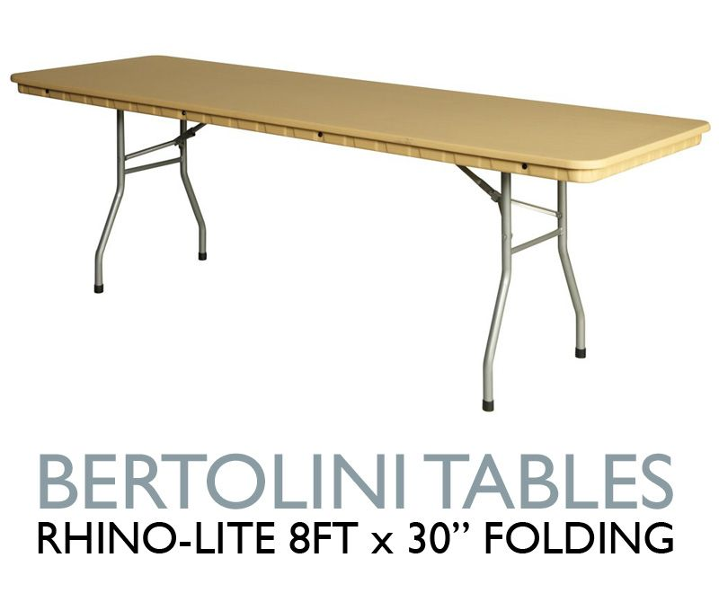 Rhino Lite 8 Ft Folding Table Our Rhino Tables Are Built With High Density Polyethylene Resin And Steel Legs And Frame Folding Table Table Church Furniture