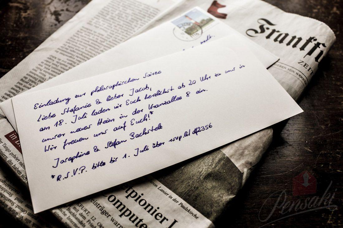 Handschriftliche Einladung zur philosophischen Soirée. Geschrieben ...