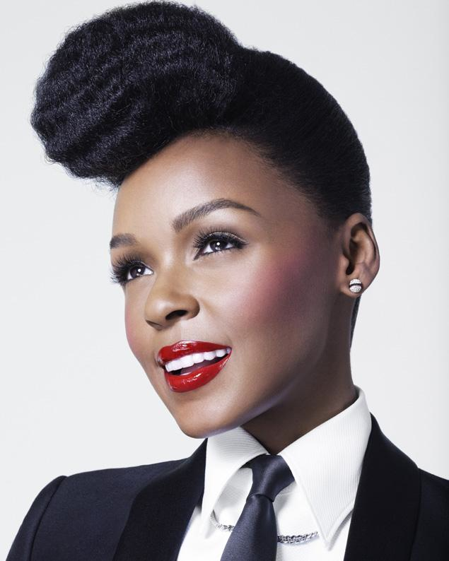 Janelle Monae New #Covergirl! Love her lipstick!! & her hair! #teamnatural #naturalhair