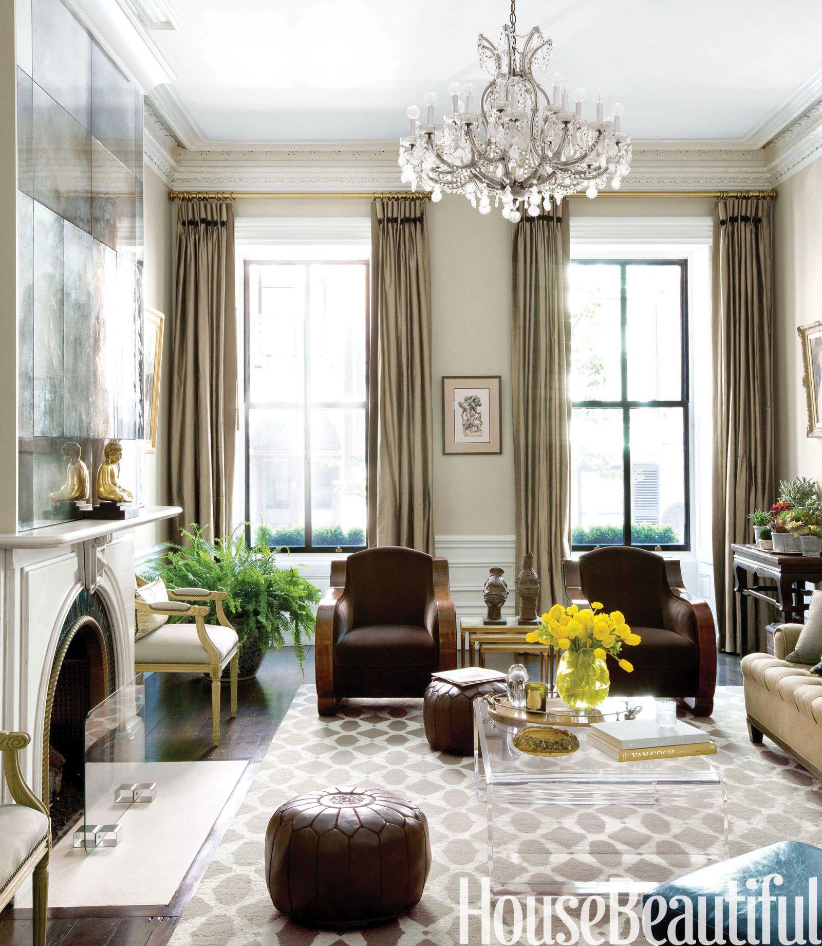 A Proper Boston Brownstone With Sparkle  Custom Mirrors Mirror Best Living Room Boston Design Design Decoration