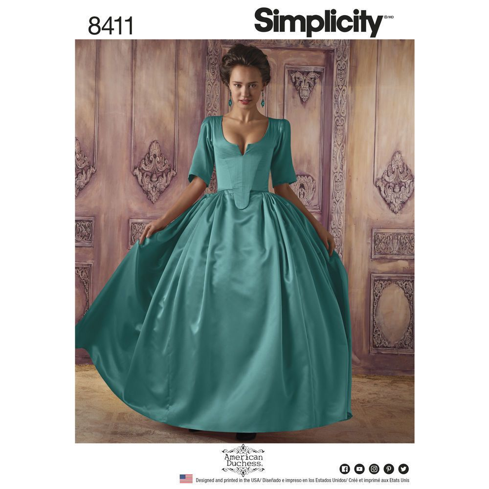 4c477749bb  5.99 - S8411 Simplicity Sewing Pattern Costume French Dress 18Th Century  Outlander  ebay  Home   Garden