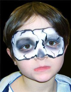 sugar skull face paint child google search - Skeleton Face Paint For Halloween
