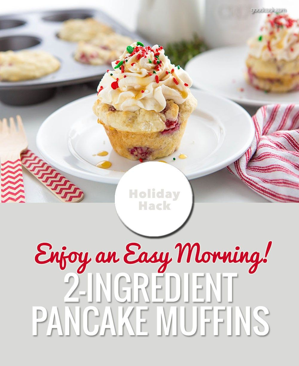 HOLIDAY HACK: How to Make Christmas Morning Muffins with Just 2-Ingredients!
