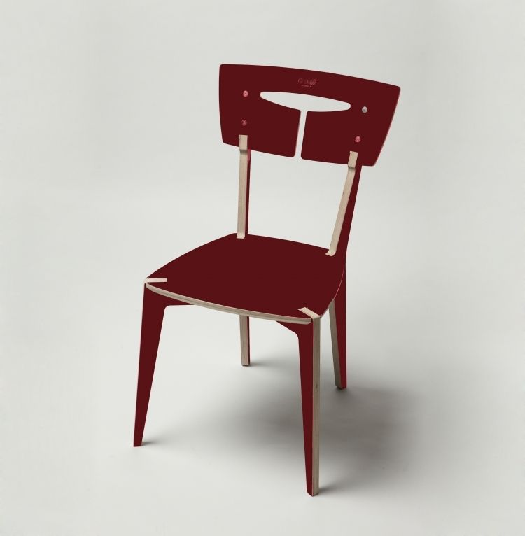 Finished In A Rich And Glossy Burgundy Red, The Aileron Chair Is A Unique  Piece Of Furniture That Exudes Individuality.