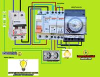 Esquemas eléctricos: reloj horario esquema electrico mas tomas chuco