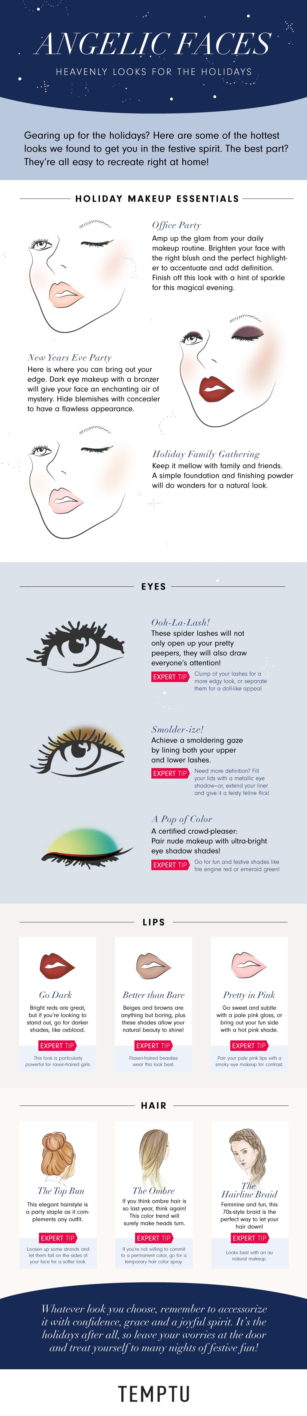Angelic Faces: Heavenly Looks For The Holidays #infographic