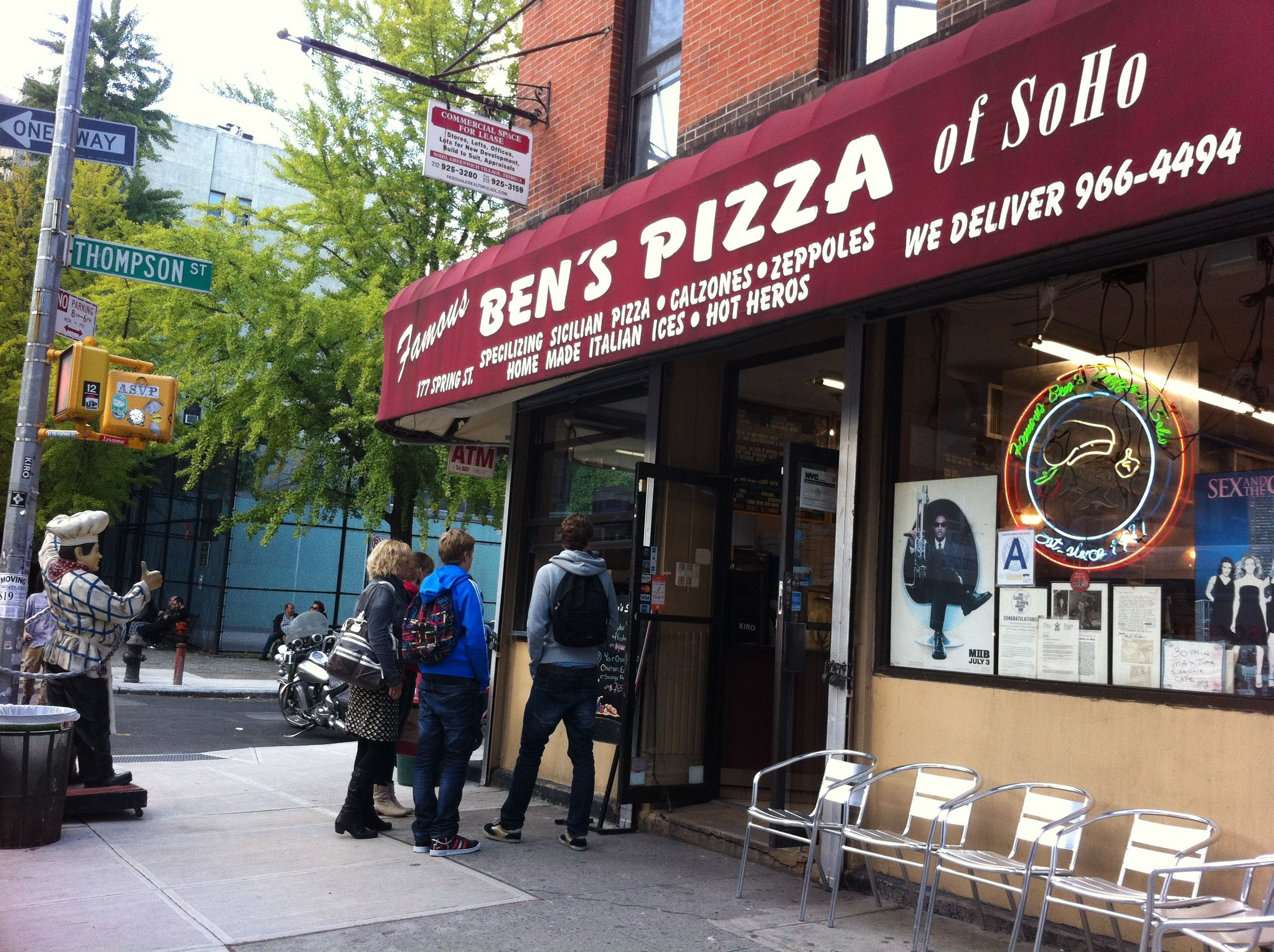 Ben S Pizza Soho New York City Us Soho Nyc Trip Restaurant New York
