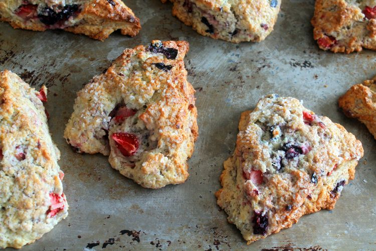 Mixed Berry Mascarpone Scones are easy to make and even easier to devour! Perfect for brunch or a baby shower.