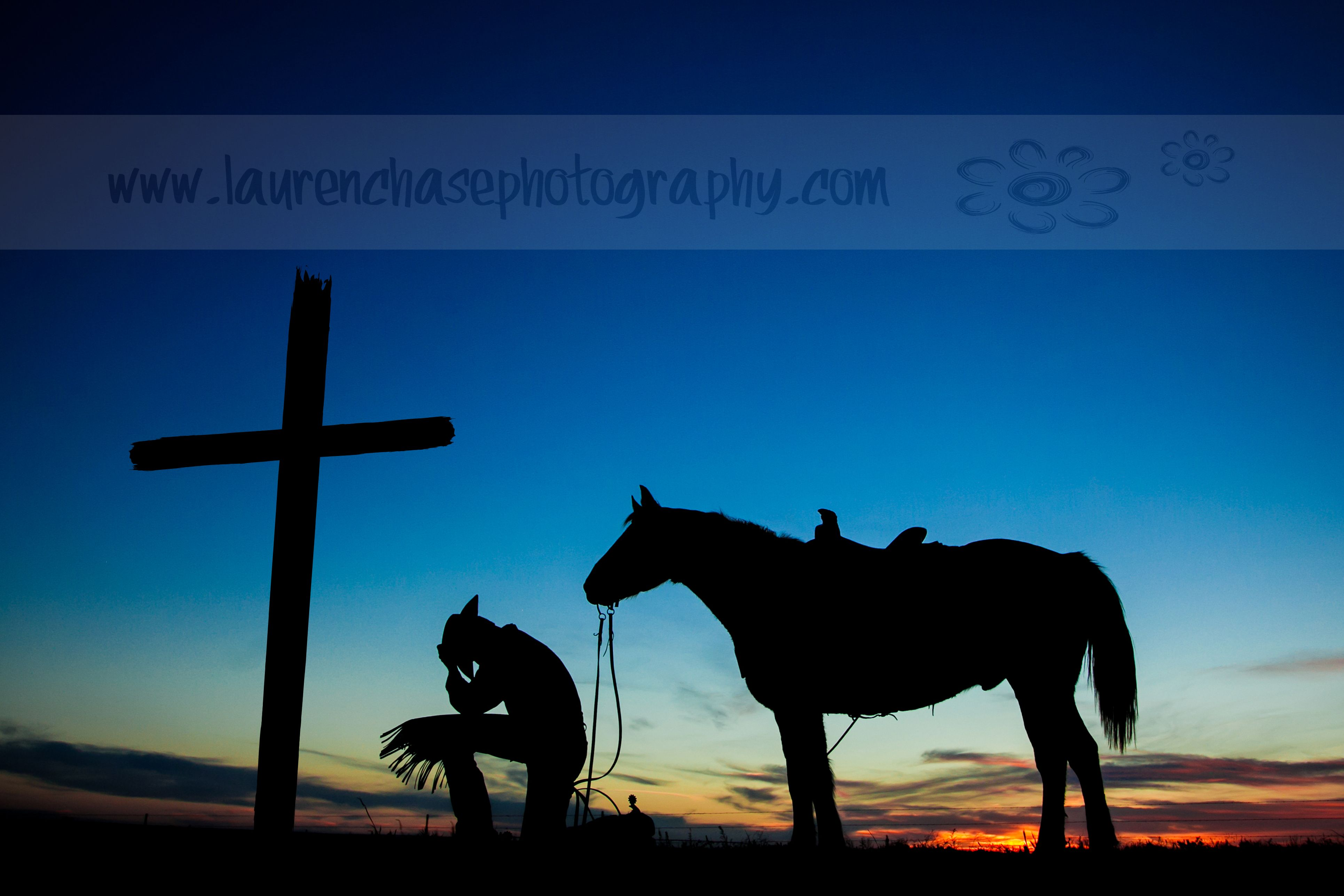 Praying cowboy silhouette lauren chase photography for Cowboy silhouette tattoo