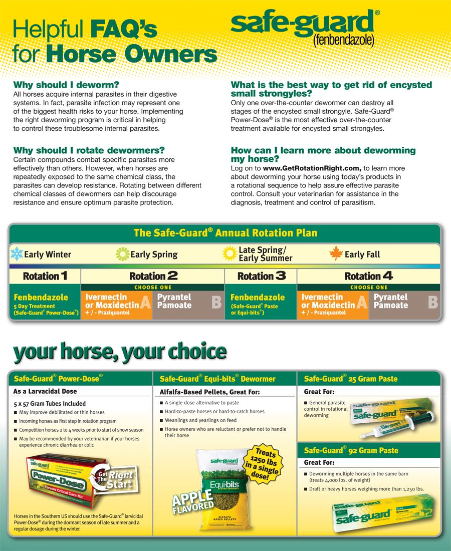 safeguard deworming schedule for horses | safe-guard® power-dose in